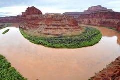 Point de col de cygne, île dans le ciel, Canyonlands, Utah Images stock
