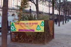 Point de collection d'arbres de Noël utilisés Photo libre de droits