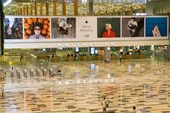 Point de contrôle d'immigration de Singapour à l'aéroport international de Changi Images libres de droits