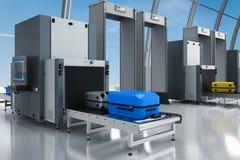 Point de contrôle de sécurité dans les aéroports Photo stock