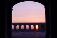 Point de coucher du soleil Image libre de droits