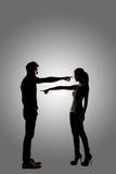 Point de couples entre eux Photos libres de droits