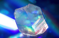 Point de cristal de quartz Photographie stock