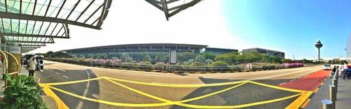 Point de descente de passager du terminal d'aéroport de Changi 2 photo stock