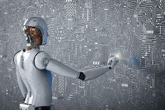 Point de doigt de robot photo libre de droits