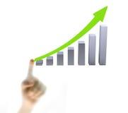 Point de doigt sur le graphique Image stock