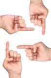 Point de doigts images stock