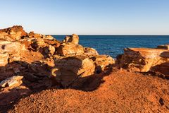 Point de Gantheaume au coucher du soleil, Broome, Kimberley, Australie occidentale, Australie image stock