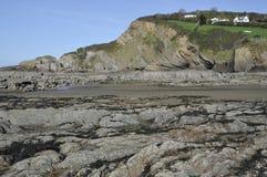 Point de Lester et plage de Combe Martin Image libre de droits