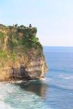 Point de mer au temple d'ULUWATU Photo libre de droits