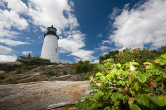 point de pemaquid de phare image stock