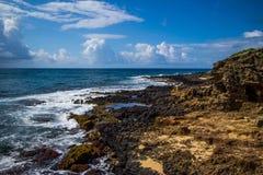 Point de Poipu, Kauai, Hawaï Images libres de droits