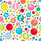 Point de polka aléatoire coloré de fond différent de taille Image stock
