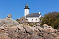 Point de Pontusval lighthouse Stock Image