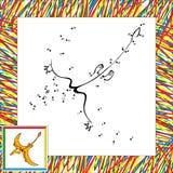 Point de ptérodactyle de bande dessinée à pointiller Photo stock