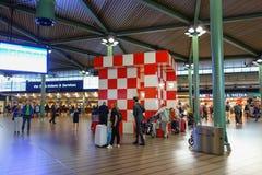 Point de rencontre à l'aéroport de Schiphol à Amsterdam Photographie stock