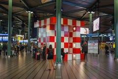 Point de rencontre à l'aéroport de Schiphol à Amsterdam Image libre de droits