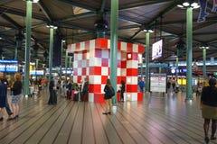 Point de rencontre à l'aéroport de Schiphol à Amsterdam Images stock