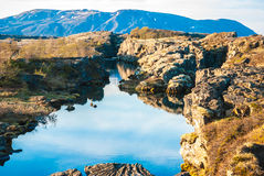 Point de rencontre de plaques tectoniques de l'Islande Images stock