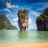 Point de repère célèbre de Phuket Thaïlande - île de James Bond photographie stock libre de droits