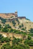 Point de repère célèbre du Ràjasthàn - ambre Photographie stock libre de droits