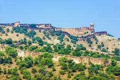 Point de repère célèbre du Ràjasthàn - ambre Photographie stock