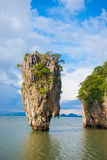 Point de repère d'île de James Bond de baie de Phang Nga : : Thaïlande Photo stock