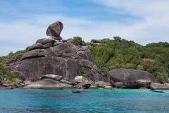 Point de repère d'île tropicale de plage de parc national de Similan en Thaïlande Image stock