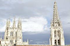 Point de repère d'Espagnol de Burgos Cathedral images libres de droits