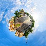 Point de repère d'oscillation géante de vue de 360 Panorma de ville de Bangkok Images libres de droits