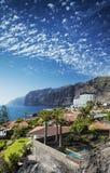 Point de repère de falaises de gigantes de visibilité directe en île du sud Espagne de Ténérife photo libre de droits