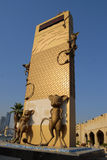 Point de repère de monument au Qatar Photo stock