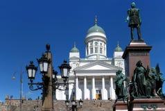 Point de repère de place de sénat de Helsinki photos stock