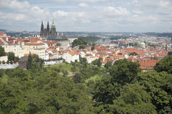 Point de repère de ville de Prague - château de Prague Photographie stock