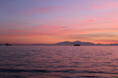 Point de repère de vue de mer photographie stock
