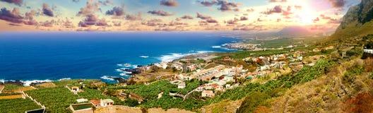 Point de repère et tourisme en Îles Canaries Beachs de l'Espagne Images libres de droits