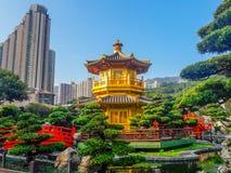 Point de repère de Hong Kong - Nan Lian Garden Chinese Classical Garden photo libre de droits