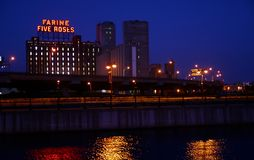Point de repère rose de Farine cinq Montréal Photo libre de droits