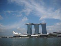 Point de repère de sable de Marina Bay de Singapour pendant l'après-midi Photo stock