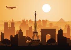 Point de repère de style de silhouette de Frances Images libres de droits