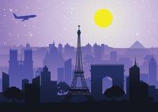 Point de repère de style de silhouette de Frances Image stock