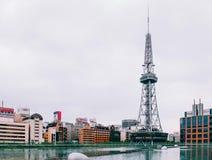 Point de repère de tour de Nagoya TV de centre commercial de secteur de Sakae de photo stock