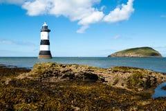 Point de Trwyn Du Lighthouse Penmon Photographie stock