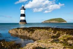 Point de Trwyn Du Lighthouse Penmon Images stock