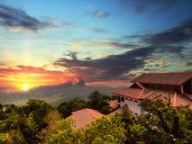 Point de vue à l'île de Langkawi. La Malaisie Images stock