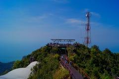 Point de vue à la montagne à langkawi Images stock