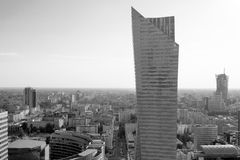 Point de vue élevé au centre de Varsovie photographie stock