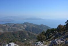 Point de vue élevé, Corfou photo stock