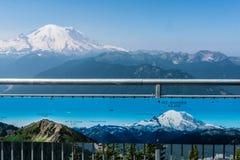 Point de vue au Mt plus pluvieux Image libre de droits