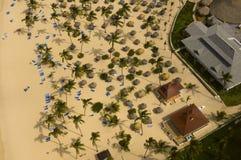 Point de vue bird's-eye de plage de mer Photographie stock